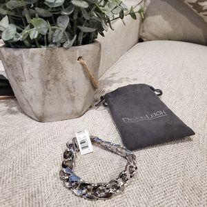 Brand new unisex Devon Leigh silver tone bracelet